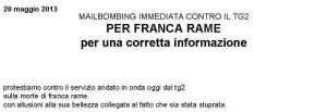 Mail-Bombing pro franca rame