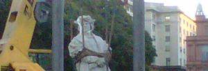 BuensAires-statua rimossa