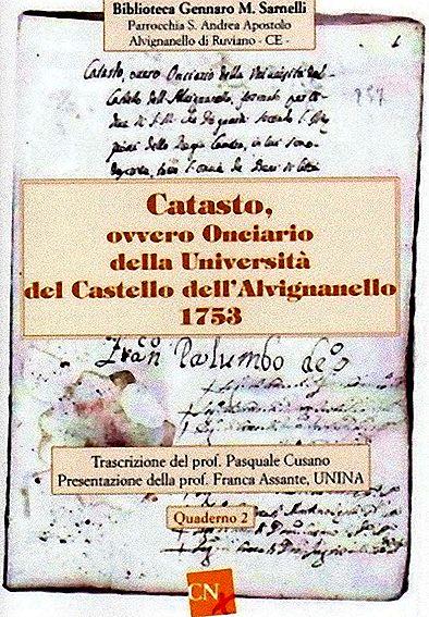 Ruviano  presentato testo sul catasto onciario del 1753