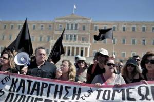 Protests during a 48-hour strike in Athens