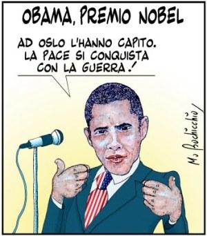 OBAMA,PREMIO NOBEL-guerra-vignetta1