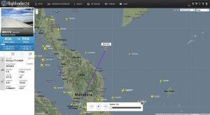Malesia, scomparso aereo